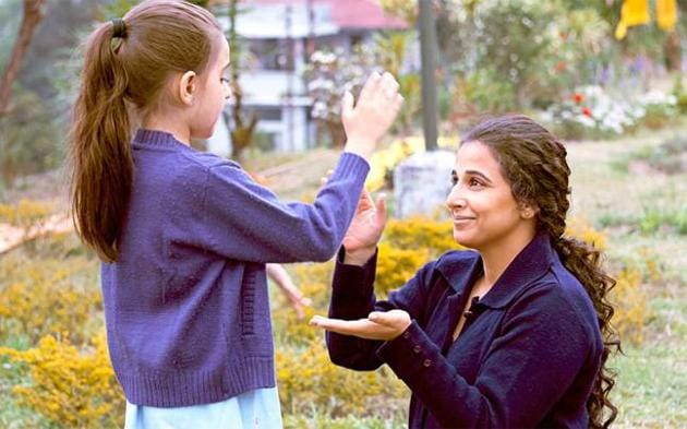 Vidya plays an overworked single mother who dotes on her physically challenged teenage daughter.