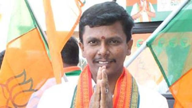 """JVR Arun, the BJP's youth secretary in Salem district, declared his support for the demonetisation decision a week after Narendra Modi announced it, through a Facebook post which read,""""For the progress of our country, let's stand in a queue.""""(JVR Arun's Facebook page)"""
