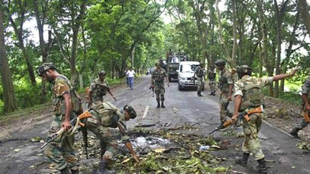 Representative photo. The attack at Assam Rifles convoy took place 20 kms from Indo-Myanmar border.(File Photo)