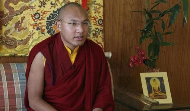 Karmapa Lama, the third highest ranking lama, speaks during an interview with Reuters in the northern hill town of Dharamsala in March 2009.(Reuters)