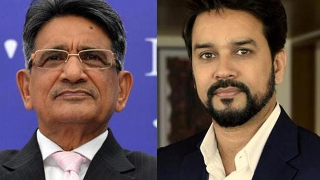 The Supreme Court seems determined to make Anurag Thakur and the BCCI fall n line and comply with the Justice RM Lodha Committee's recommendations.(Agencies)