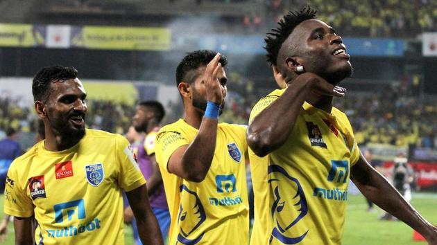 Kervens Belfort scored the winner for Kerala Blasters against Delhi Dynamos in their Indian Super League encounter.(Photo: ISL)