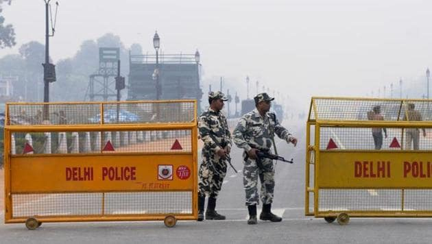 Intelligence alerts on terrorist threats in the Capital were 50% down over the past five years.(HT File Photo)