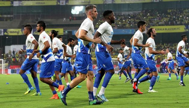 Kerala Blasters have never defeated Delhi Dynamos at home.(ISL/SPORTZPICS)