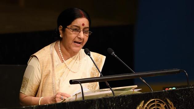 In the written reply, Swaraj said on several occasions, Indian leaders have delivered statements at the UN in Hindi and added that to promote it as an international language, a World Hindi Secretariat was also set up in Mauritius in 2008.(AFP)