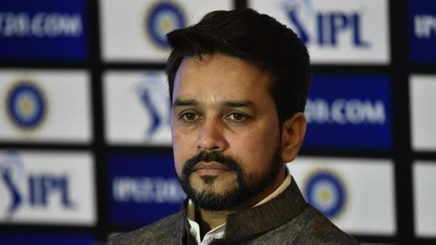 The Supreme Court is mulling to replace the Board of Control for Cricket in India top brass with a panel of observers who will implement the Lodha panel recommendations and run the BCCI. Current president Anurag Thakur has been charged for committing perjury.(Vipin Kumar/HT PHOTO)