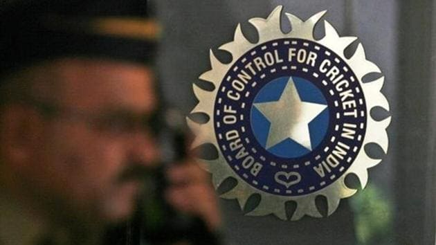 A file photo of the BCCI logo outside their office in Mumbai.(REUTERS)