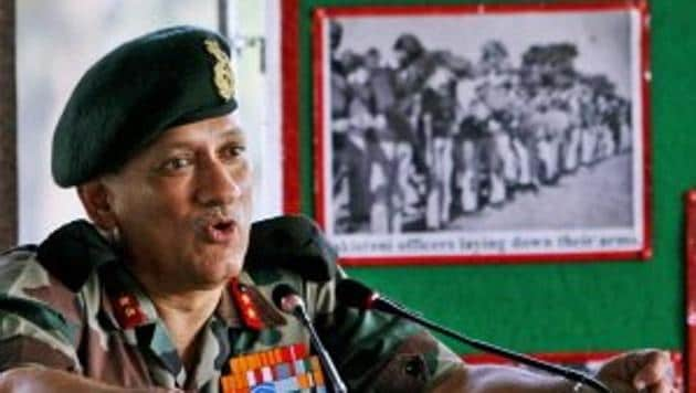 A file photo of Lt Gen Bipin Rawat, who will be India's new army chief.(This photo was tweeted by PTI)