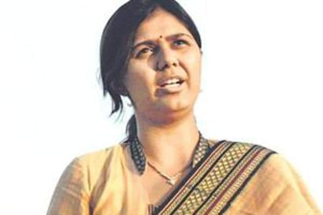 The 37-year-old daughter of late BJP leader Gopinath Munde also has an uncanny ability to weather these controversies(HT)