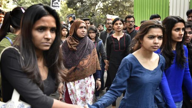 The court was hearing a habeas corpus plea filed by Fatima Nafees, Ahmed's mother that her son be produced by police and the Delhi government before the court.(Arvind Yadav/HT PHOTO)