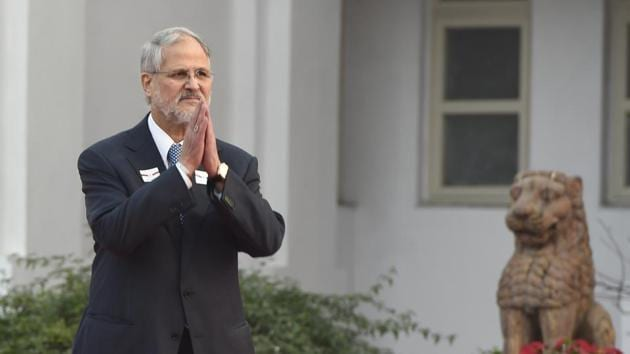 Najeeb Jung, a former IAS officer from the Madhya Pradesh Cadre and former vice-chancellor of Jamia Millia Islamia, was the 20th L-G of Delhi.(Arvind Yadav/HT PHOTO)