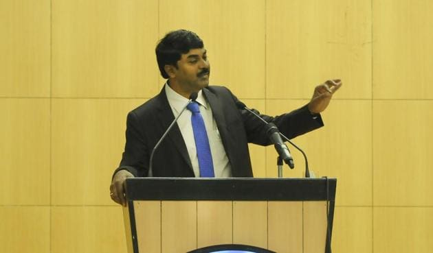 Dr G Satheesh said there is a need for investment in research to develop centres of excellence at a micro level(Burhaan Kinu/HT Photo)