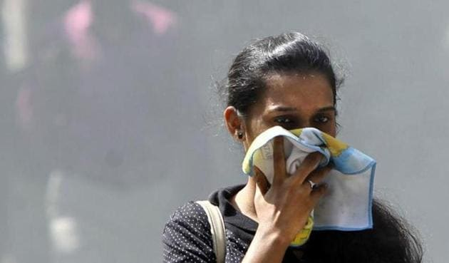 Not a single location recorded either 'moderate' or 'good' air quality.(HT File Photo)