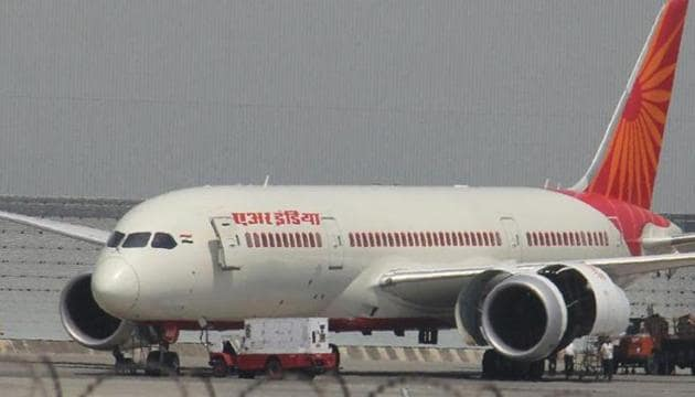 On an US-bound Air India flight from Mumbai, the man is accused of touching one of the breasts of the woman after she fell asleep.(HT file photo)
