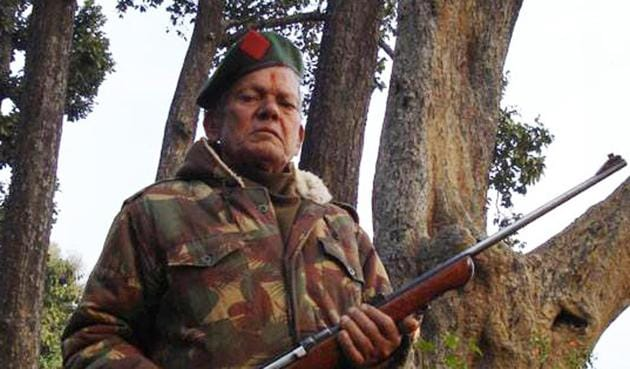 Thakur Dutt Joshi made his first kill in the early 70s shooting down a leopard that had turned man-eater.(HT Photo)