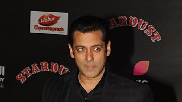 Salman Khan attends the 14th Stardust Awards 2016 ceremony in Mumbai.(AFP)