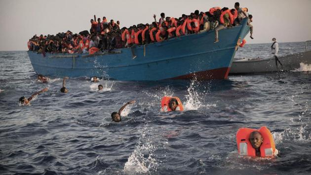 """The """"alarming increase"""" in deaths this year appeared to be related to bad weather, the declining quality of vessels used by smugglers, and their tactics to avoid detection.(AP file photo)"""