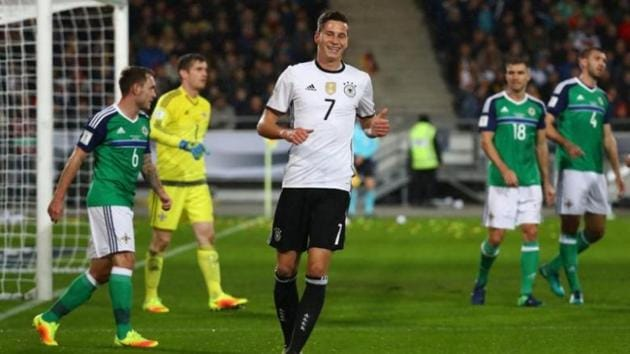 Julian Draxler, who has 27 caps, made 34 league appearances for Wolfsburg, scoring five goals, after joining from Schalke 04 in August 2015. He has been signed up by French champions Paris St Germain(Reuters)