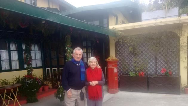 David and Pat Gates first came to Darjeeling in 1991, and since then has never missed a Christmas in this hill station.(HT Photo)
