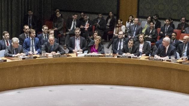 United States had decided not to veto the resolution demanding an end to Israeli settlements on Palestinian territory, introduced in the UN Security Council by Egypt.(AP photo)