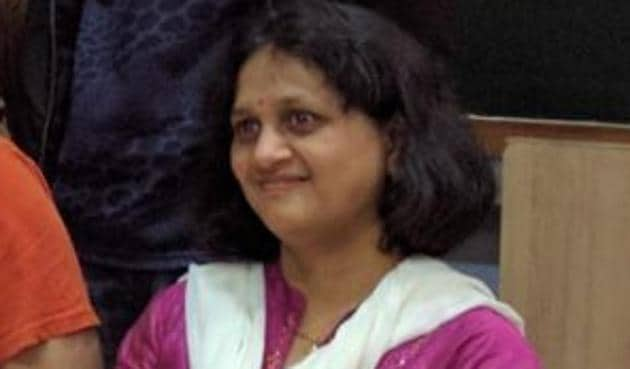Ranjita Save, 47, is a retired bank employee and a mother of two.(HT)