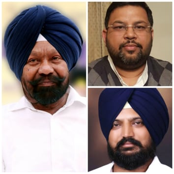 (clockwise from left) Darshan Singh Kotfatta, Amit Rattan and Harpreet Singh Kotbhai.(HT Photos)