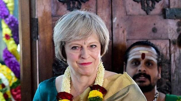 """British Prim Minister Theresa May's visit this year was called """"a near pointless jolly to India"""".(PTI File)"""