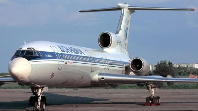 This file photo taken on January 2, 2001 shows a Tupolev-154 (TU-154) aircraft. A Russian military plane crashed on Sunday in the Black Sea as it made its way to Syria with 92 people on board.(AFP)