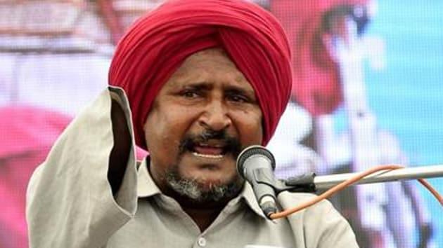 File photo of AAP leader Bant Singh Jhabbar.(HT Photo)