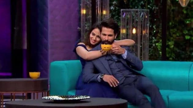 From Shahid teasing Mira by saying he is still coming to know of her ex-boyfriends to Mira revealing the most annoying habit of dear husband, the glimpse of the episode shows the adorable chemistry of the couple.(Twitter)