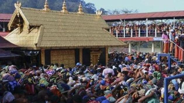There are restrictions for the entry of women between 10-50 years of age in the Sabarimala temple.(AP file)
