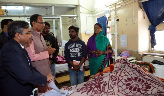 Chief minister Shivraj Singh Chouhan inspected the Hamidia Hospital on December 23.(File photo)
