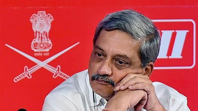 Defense Minister Manohar Parrikar at the Army Technology Seminar on Common Technologies and Advanced Materials For Land Systems in New Delhi.(PTI)