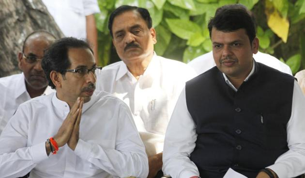 The Devendra Fadnavis-led BJP is also attempting to disown its joint rule with the Shiv Sena, headed by Uddhav Thackeray, in the city for the past two decades.(HT File)