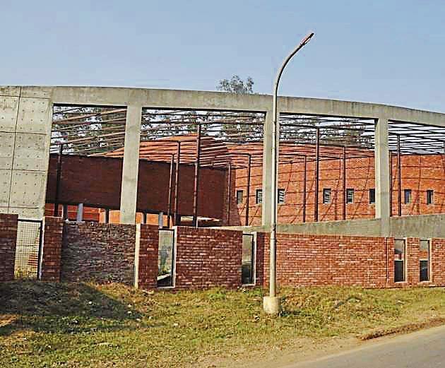 The Shaheed-E-Azam Bhagat Singh museum that is still under construction at Khatkar Kalan in SBS Nagar.(Sikander Singh Chopra/HT)