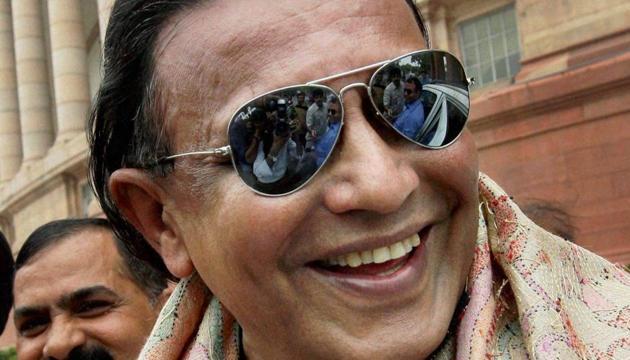 A file photo of actor Mithun Chakraborty, who resigned from the Rajya Sabha on Monday .(PTI)