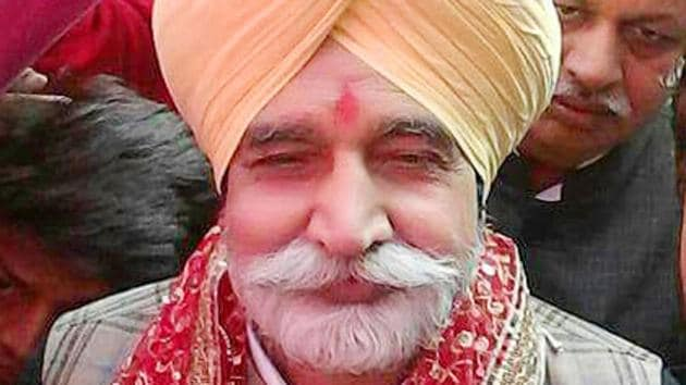 Sikander Singh Maluka among supporters at the opening of his election office in Rampura Phul on Monday, December 26.(Photo: punjabupdate.com)