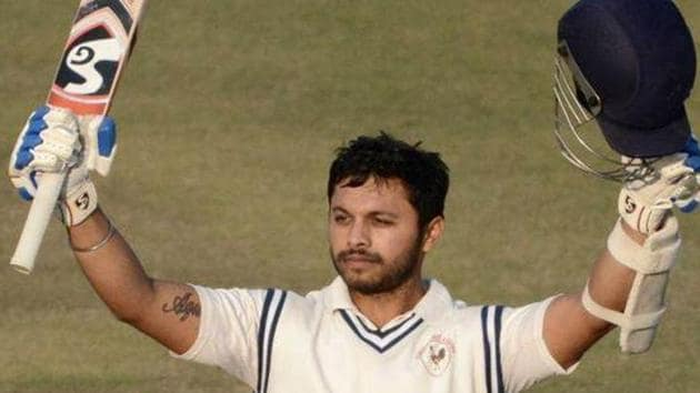 Samit Gohel has broken a 117-year-old first class cricket record by scoring 359 not out in a Ranji Trophy match between Gujarat and Odisha(Twitter)