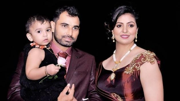 Mohammed Shami, was trolled after posting this picture with wife Hasin Jahan on his official Facebook page.(Twitter/Mohammed Shami)