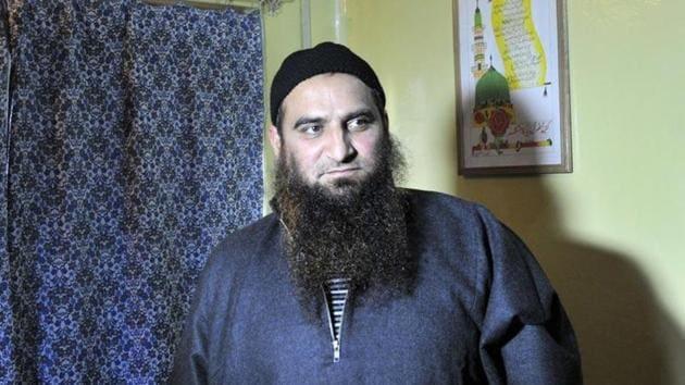 Kashmiri separatist leader Masarat Alam at his home in Srinagar on Monday.(Waseem Andrabi/HT Photo)
