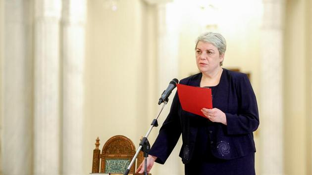 Sevil Shhaideh is sworn in for the position of minister for regional administration and public administration, in Bucharest, Romania.(Reuters File Photo)