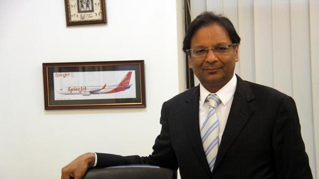 SpiceJet managing director Ajay Singh in February 2015.(Manoj Kumar/ HT File Photo)