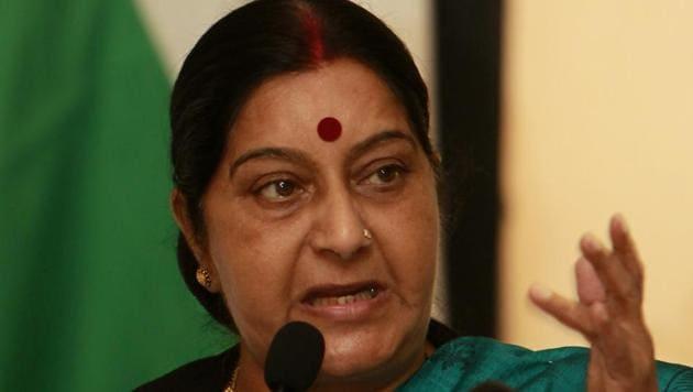 External affairs minister Sushma Swaraj.(AP File Photo)