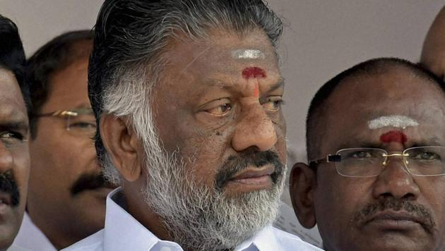 Tamil Nadu chief minister O Panneerselvam has been silent on the IT department raids on P Rama Mohan Rao's residence and office.(PTI Photo)