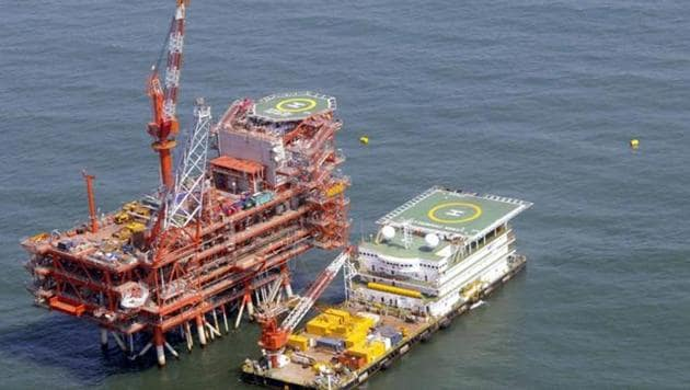India's Reliance Industries KG-D6's control and raiser platform is seen off the Bay of Bengal.(REUTERS)