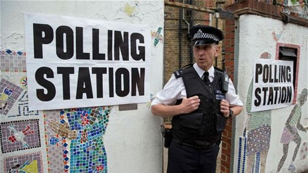 File photo of a polling station in Tower Hamlets, UK.(Reuters)