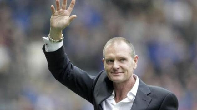 Paul Gascoigne, who has faced a long struggle with alcoholism, was kicked down the stairs after an altercation with another guest in a London hotel(Reuters)