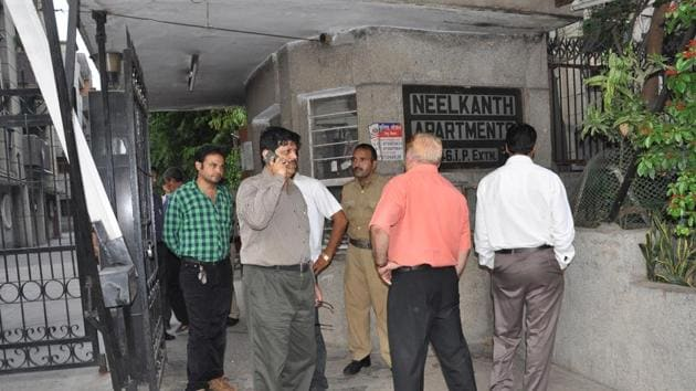 Senior bureaucrat BK Bansal had committed suicide along with his son after his name allegedly figured in a case of corruption. His wife and daughter had also committed suicide following the allegations.(HT Photo)