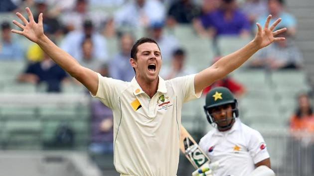 Glenn McGrath believes compatriot Josh Hazlewood has the ability to topple him and become the most prolific fast bowler in Test history.(AFP)