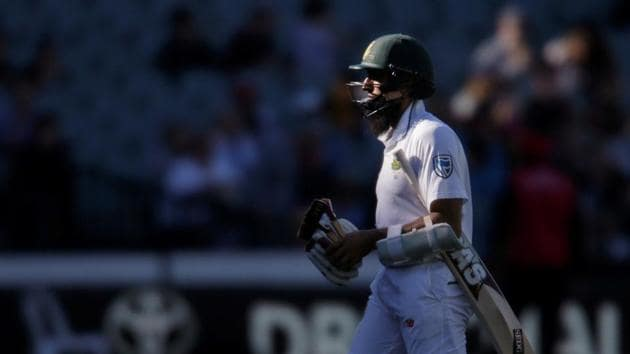 South Africa's Hashim Amla became the 10,000th batsman to be dismissed LBW in Test cricket.(REUTERS)